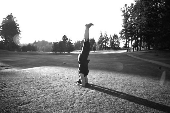 Lyndsay Savage, Savage Lamb Yoga - headstand
